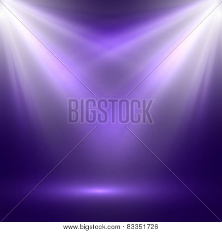 vector abstract illustration of bright stage light rays