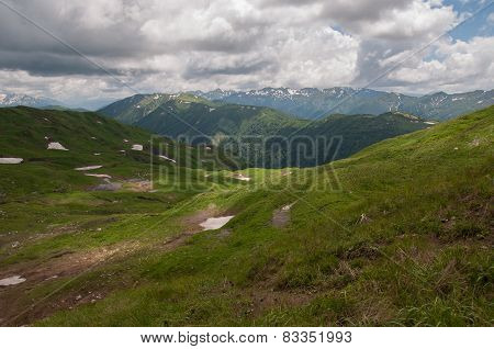 The Magnificent Mountain Scenery Of The Caucasus Nature Reserve