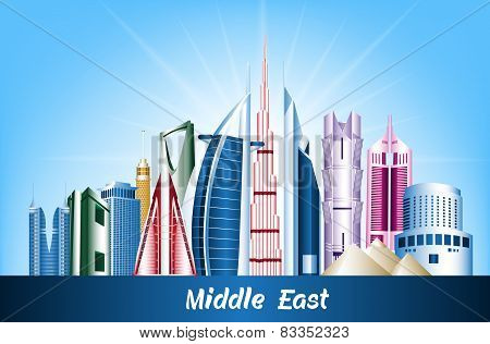 Colorful Cities and Famous Buildings in Middle East