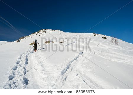 Alpine Touring Towards The Summit