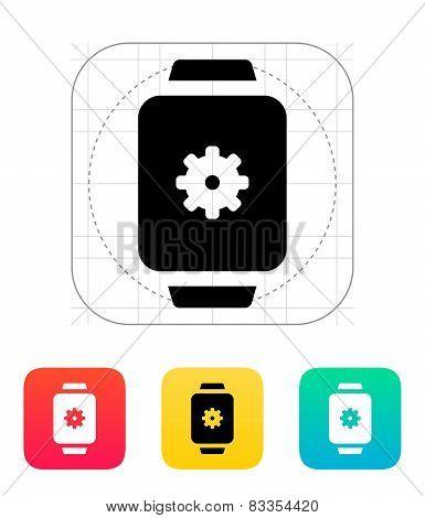 Settings in smart watch icon.