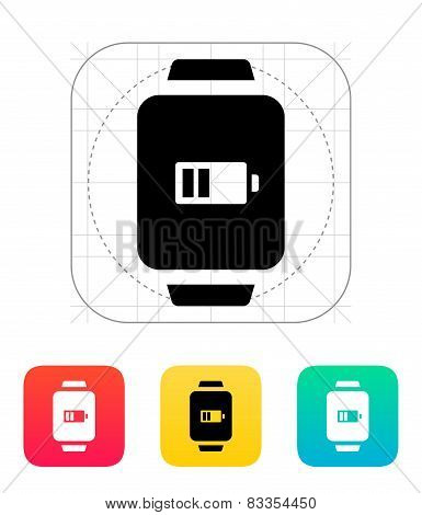 Battery charge in smart watch icon.