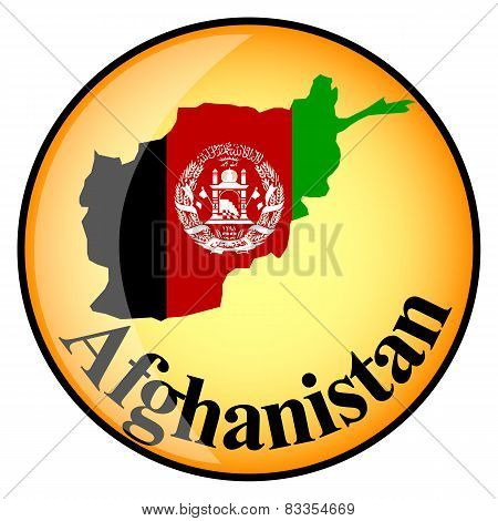 Button With The Image Maps Of Afghanistan