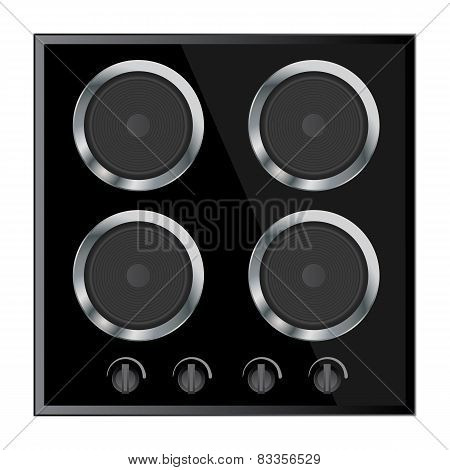surface for electric stove vector illustration isolated