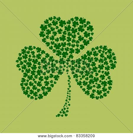 St. Patrick's Day Background In Green Colors With Place For Text