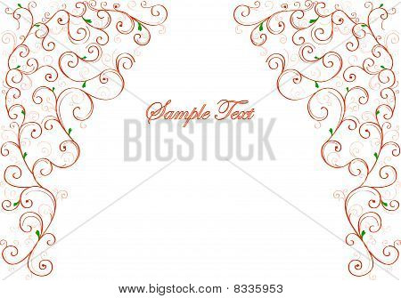 Beautiful floral greeting card