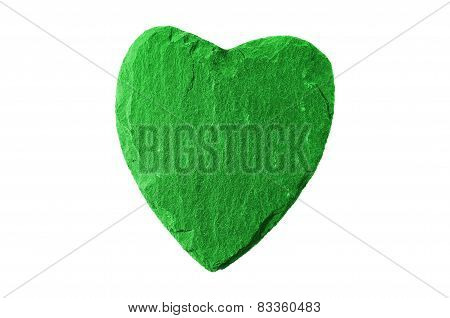 Green Heart With Slate Structure