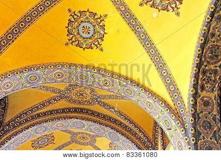 side Saint Sophia mosque in Sultanahmet, Istanbul, Turkey