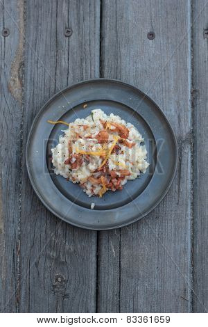 Risotto with chantarelle mushrooms.