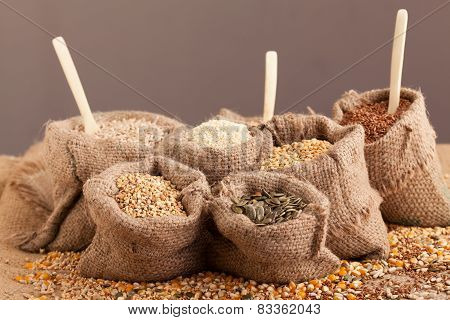 Organic Seeds In Jute Sack