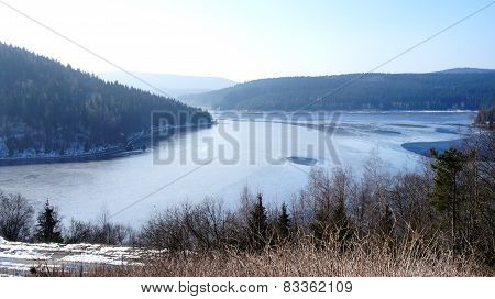 Winter in the Ore Mountains in Saxony