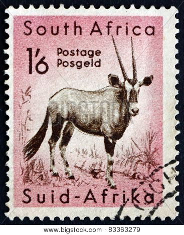 Postage Stamp South Africa 1954 Gemsbok, Animal
