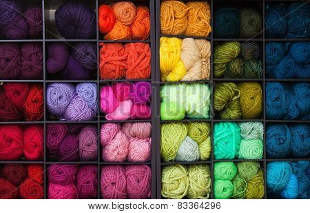 Vibrant Colorful Yarn