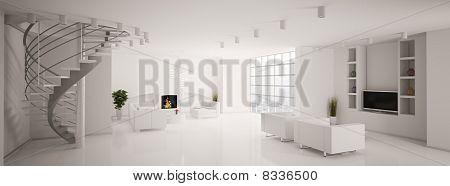 Modern Living Room Panorama 3D