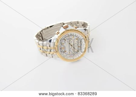 A Wrist watch isolated on white background.