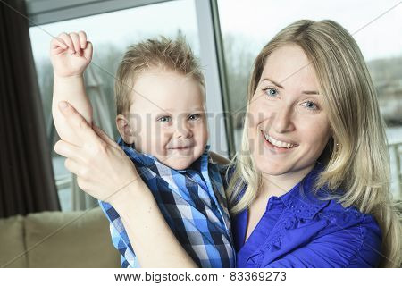 A Mother with is one Years Old Boy