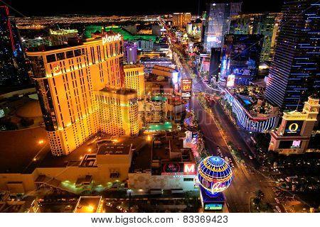 Las Vegas, Usa - March 18: Aerial View Of Las Vegas Strip On March 18, 2013 In Las Vegas, Usa. Las V