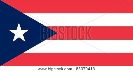 Commonwealth Of Puerto Rico Official Flag