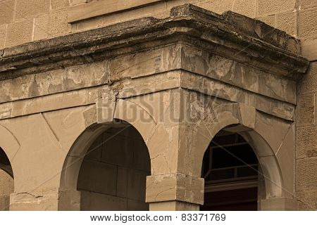 Decaying Building And Arches