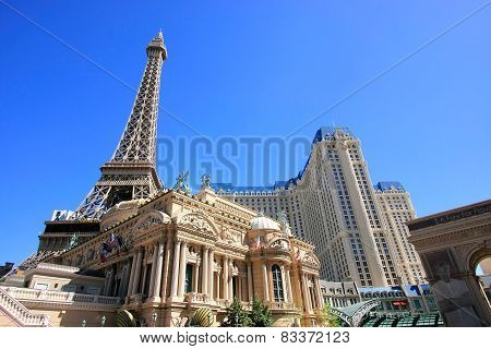 Las Vegas, Usa - March 19: Paris Palace Hotel And Casino On March 19, 2013 In Las Vegas, Usa. Las Ve