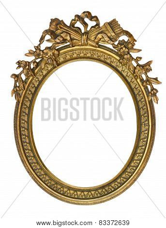 Oval Picture Frame with Ribbon Crown