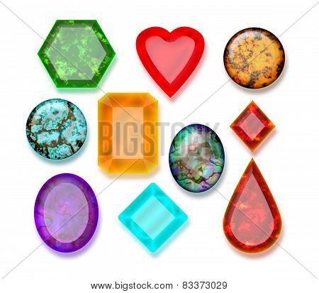 Diamond Gemstones Buttons