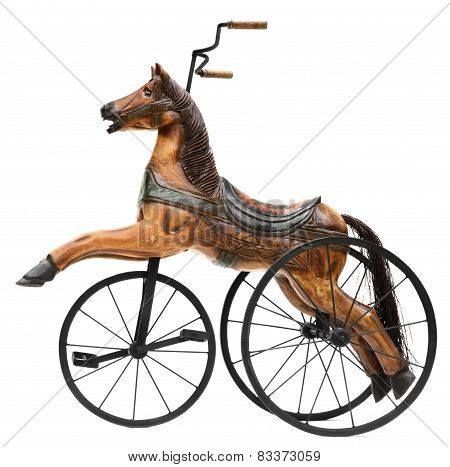 Wood Horse Tricycle Bike