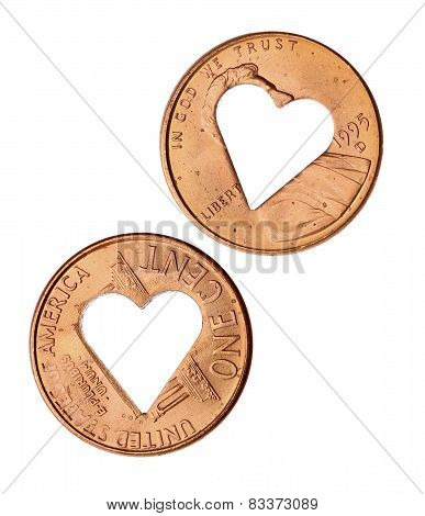 Heart Copper Penny