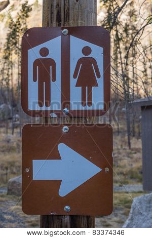 Public Restrooms Sign