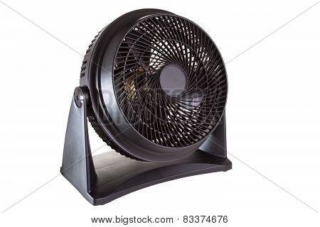 Black motor fan isolated on white