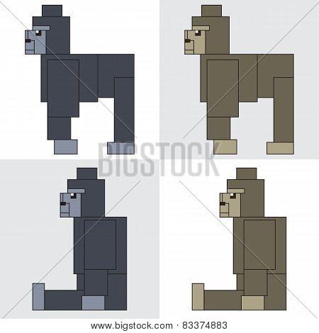 symbol icon rectangle animal gorilla