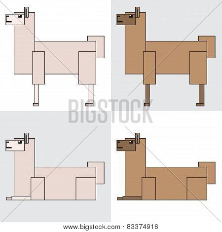 symbol icon rectangle animal llama