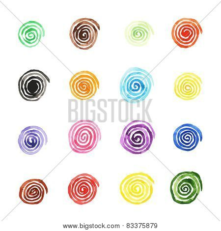 Handpaint watercolor vector background