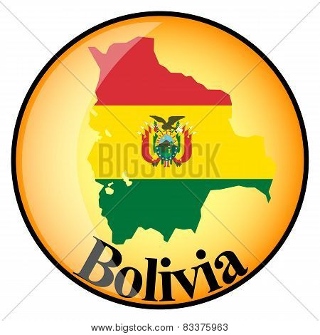 Orange Button With The Image Maps Of Button Bolivia
