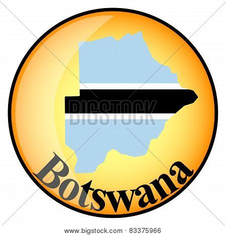 Orange Button With The Image Maps Of Button Botswana