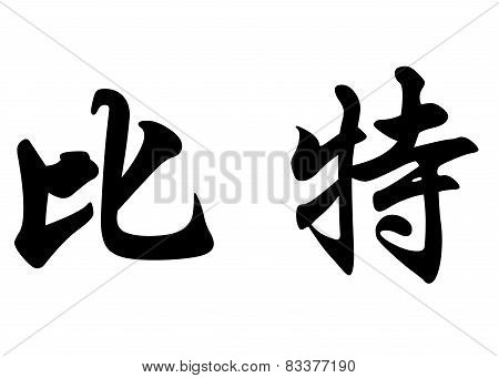 English Name Beat In Chinese Calligraphy Characters