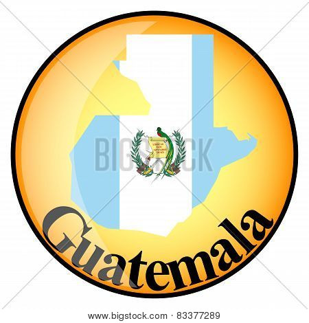 Orange Button With The Image Maps Of Button Guatemala