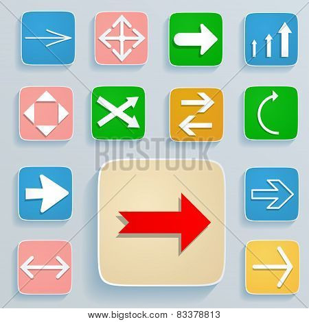 Set Of Arrows On Icons