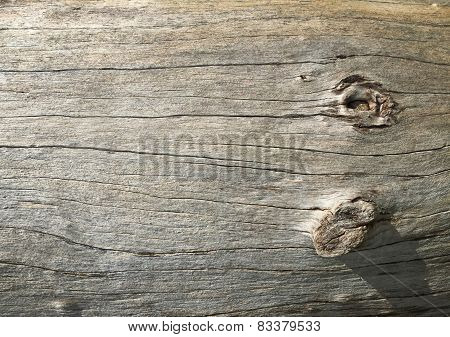 Wood Surface With A Dry And Wear Marks