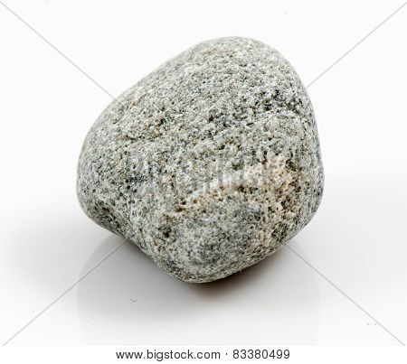 Single Stone Isolated On White Background