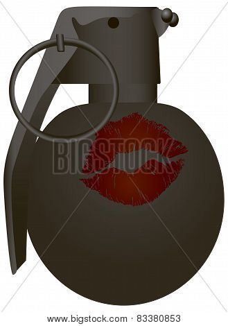Imprint Of The Lips On The Grenade