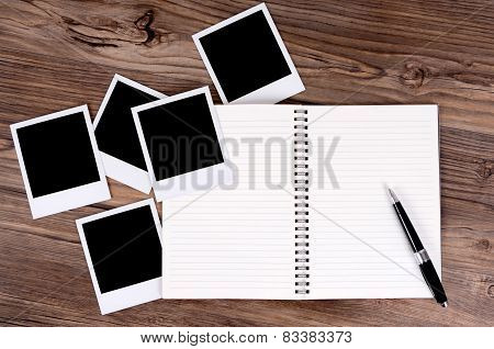 Spiral Notebook With Photo Prints