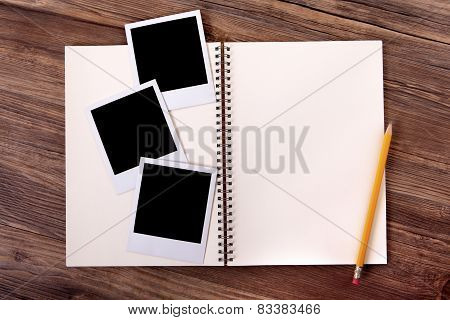 Photo Album With Blank Prints