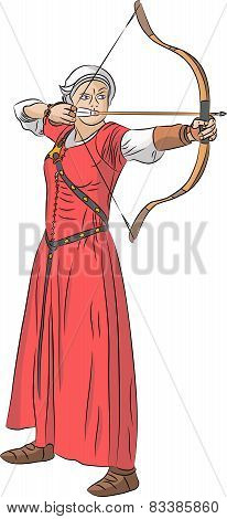 Vector Woman Archer