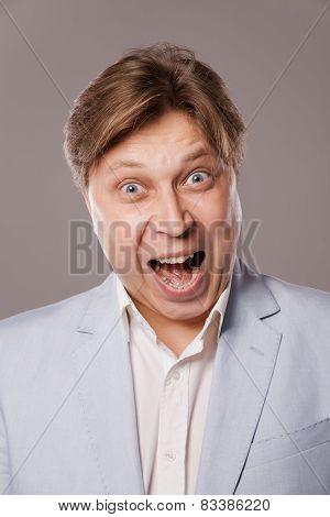 businessman shouting