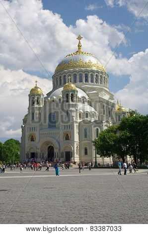 Naval Cathedral In Kronshtadt