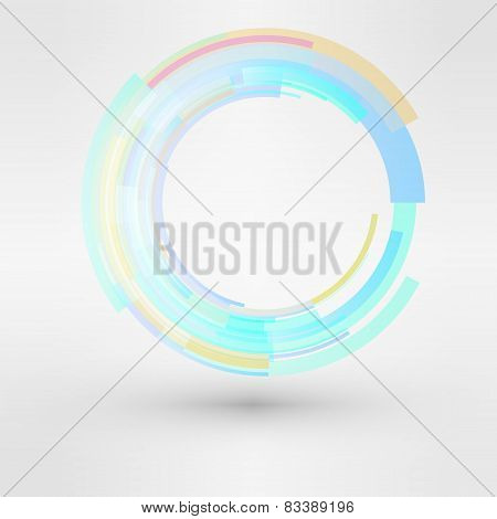 Circle looped abstract vector logo design template. Business Technology symbol. cycle sign icon.