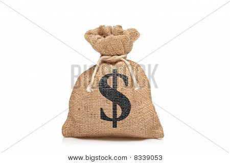 A view of a money bag with US sign