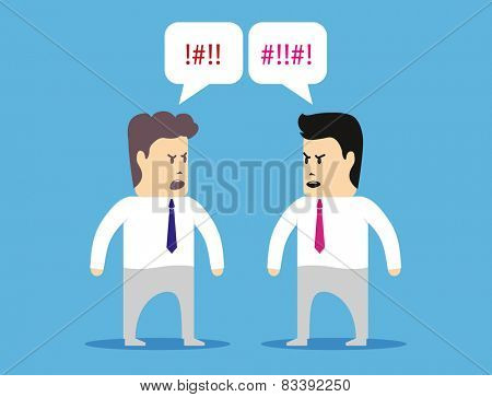 Two colleagues managers quarrel with each other