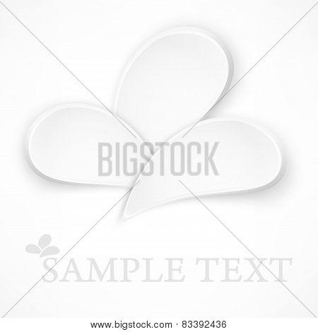 Petal Design Elements On White